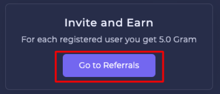 invite and earn gram free