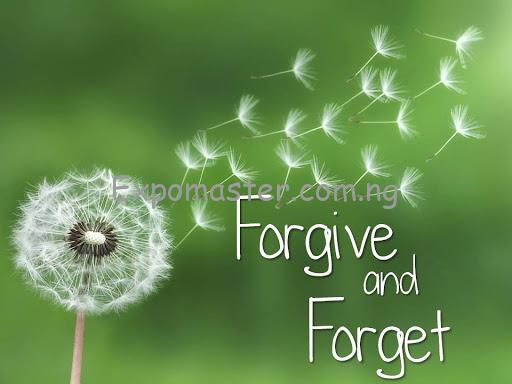 learning to forgive and forget is vital for a fruitful relationship