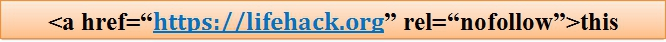 nofollow backlink sample