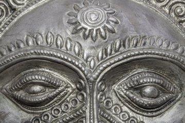 mascara Inca em prata