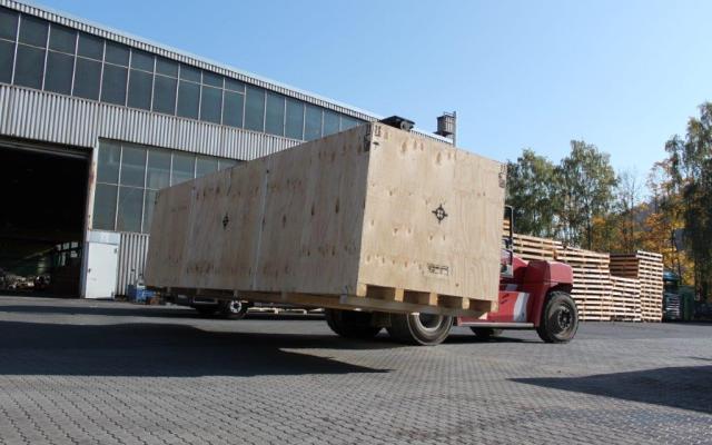 Verpackung von Maschinen und Industrieanlagen