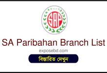 SA Paribahan Branch List
