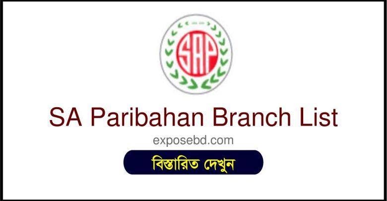 SA Paribahan Branch List