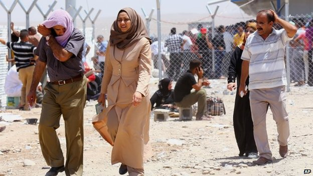 Hundreds of thousands of people have now left Mosul, and are heading to Kurdistan