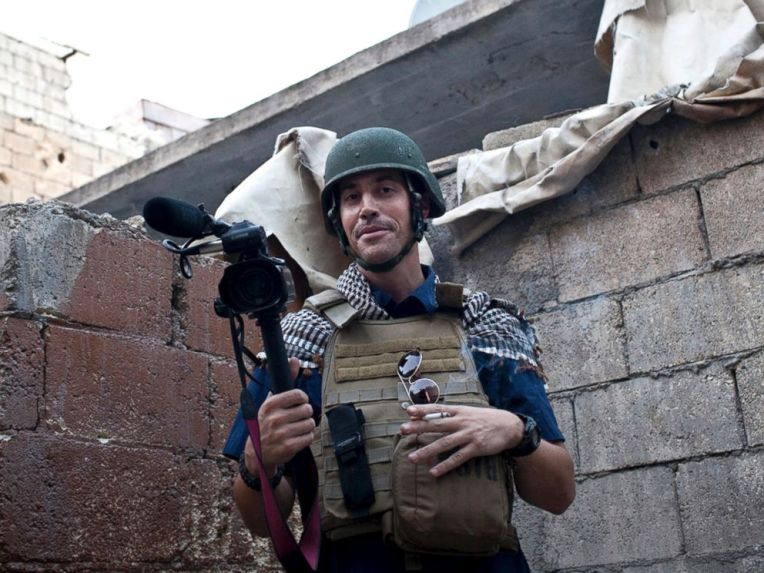 In this Nov. 2012, file photo, posted on the website freejamesfoley.org, shows missing journalist James Foley while covering the civil war in Aleppo, Syria. Nicole Tung/AP Photo