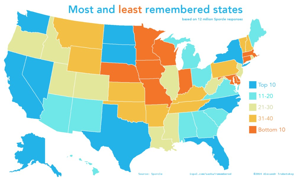 32 Info-Maps Of The United States