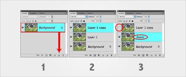 Zoom Blurring Technique Step 1