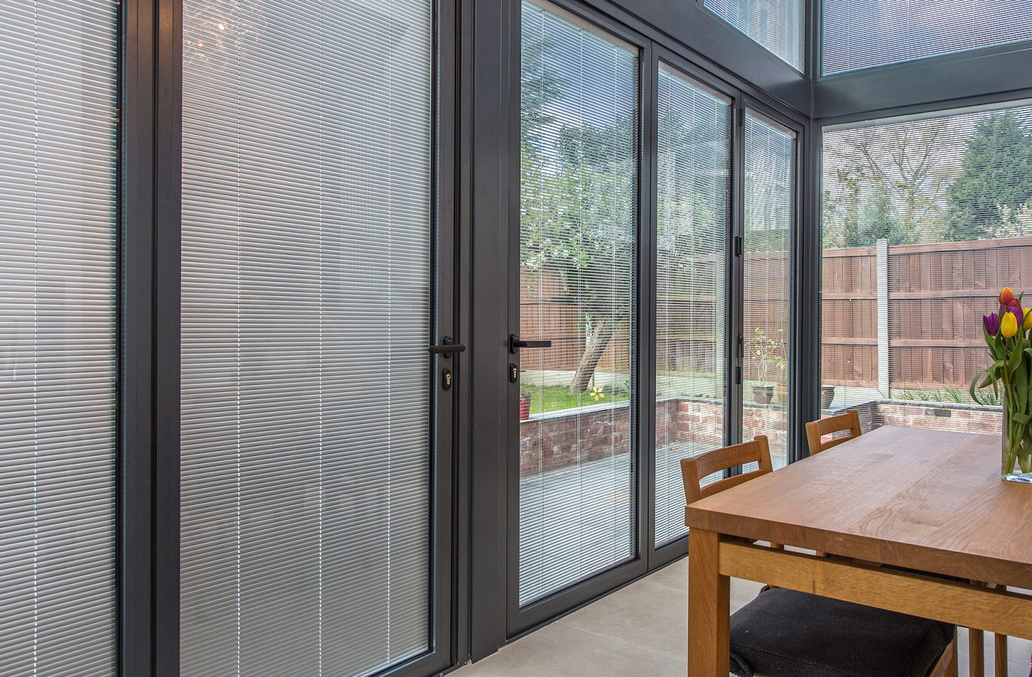 integrated blinds for doors windows