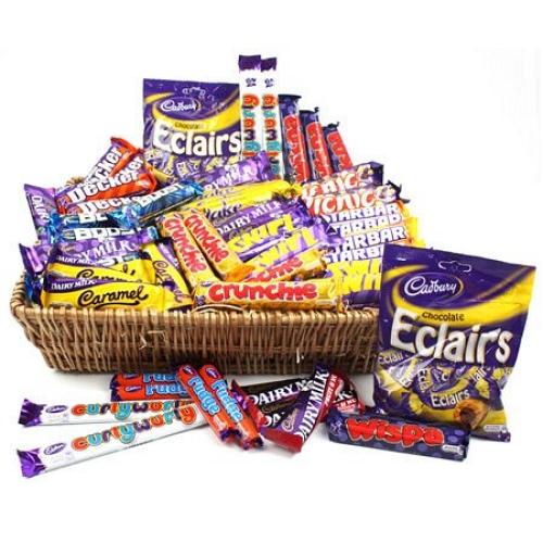 Large Cadbury Chocolate Gift Basket Delivery Send