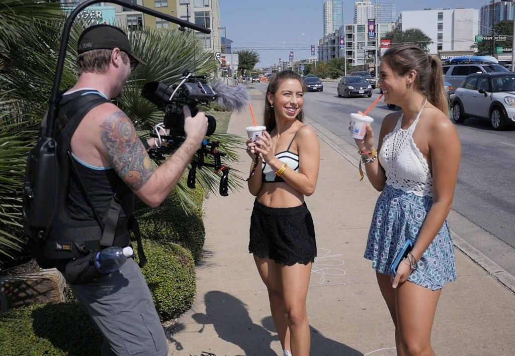 Shake it for a Shake -- Expressions in Video shoots promotional spot for Sonic during the Austin City Limits Music Festival