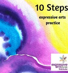 10 steps personal expressive arts practice