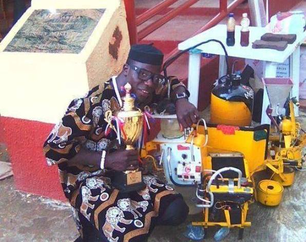 Image result for nigerian man who has built a generator that runs on water
