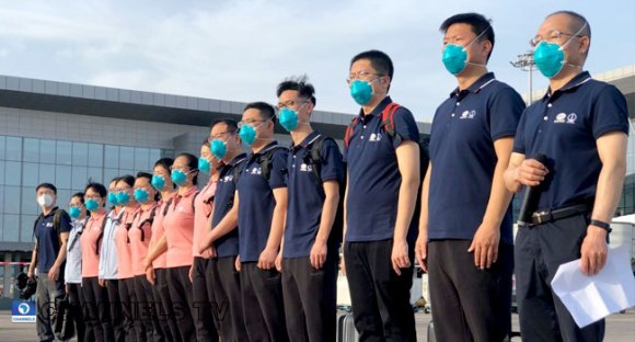 Chinese medical team arrive Nigeria (See Photos)