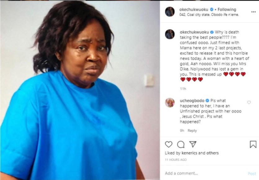 Nollywood in pain as Emilia Dike slumped and died