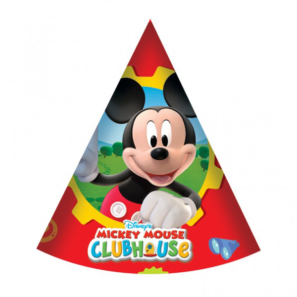 Mickey Mouse Party Hats Pack Of 6