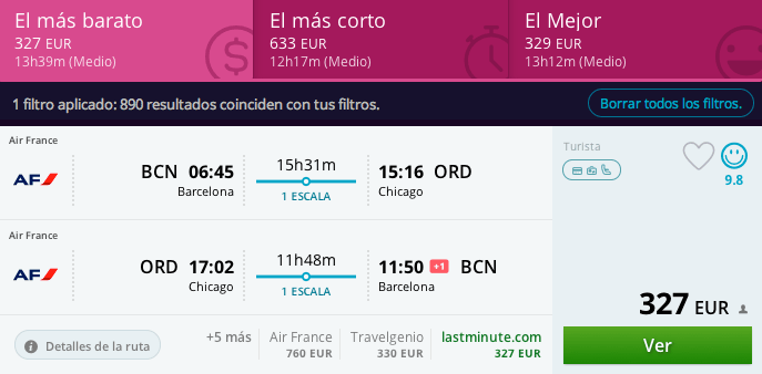 uelos baratos Barcelona - Chicago 330 euros