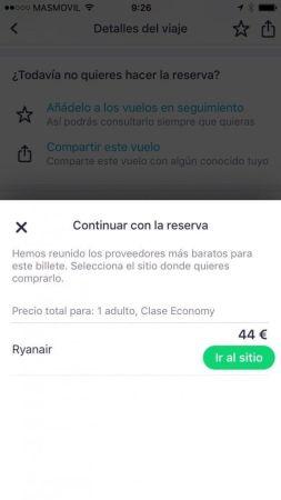app skyscanner encontrar vuelos baratos