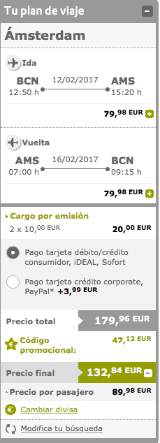 descuento 2 x 1 vueling cyber monday