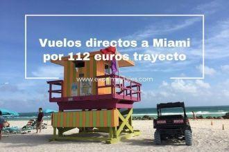 miami vuelos directos 112 euros