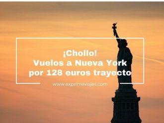 nueva york chollo vuelos 128 euros