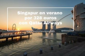 singapur verano 328 euros qatar airways