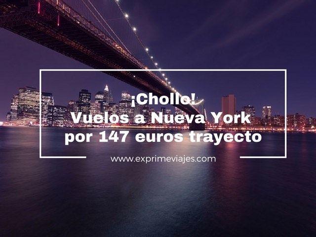 nueva york vuelos 147 euros trayecto