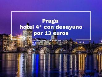 praga hotel 4 estrellas desayuno 13 euros
