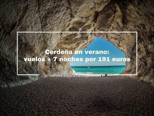 cerdeña verano vuelos 7 noches 191 euros