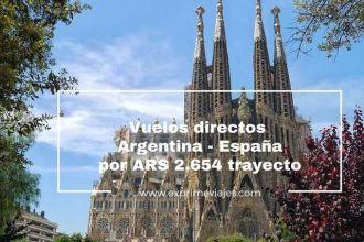 vuelos directos argentina españa