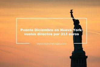 nueva york puente diciembre vuelos directos 313 euros