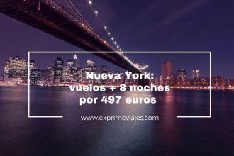 nueva york vuelos 8 noches 497 euros