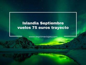 islandia septiembre 75 euros trayecto