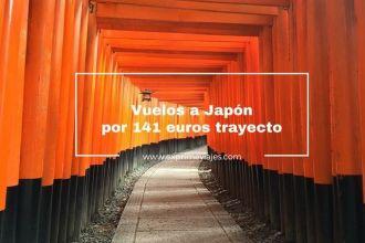 japón vuelos 141 euros trayecto