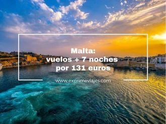 malta vuelos 7 noches 131 euros