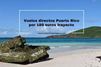 puerto rico vuelos directos 189 euros trayecto