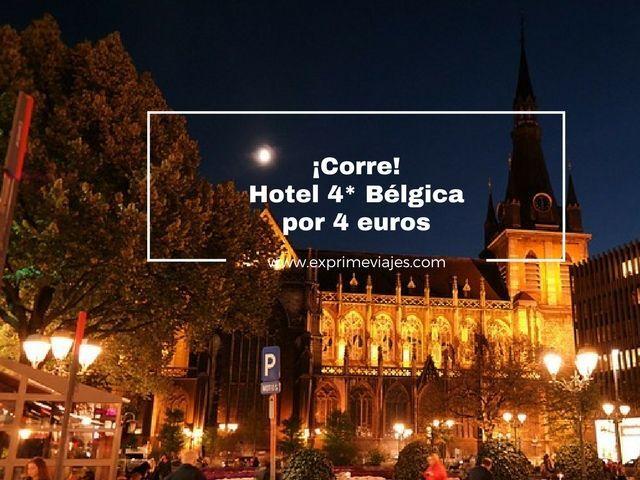 bélgica tarifa error hotel 4* 4 euros