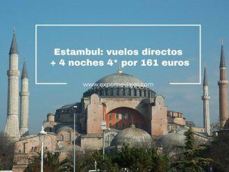 estambul vuelos directos + 4 noches 4* por 161 euros