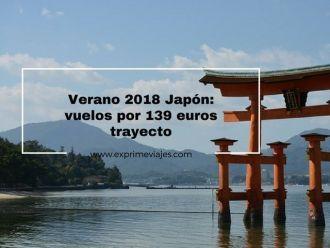 japón verano 2018 vuelos 139 euros trayecto