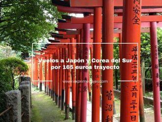 japón y corea del sur vuelos 165 euros trayecto