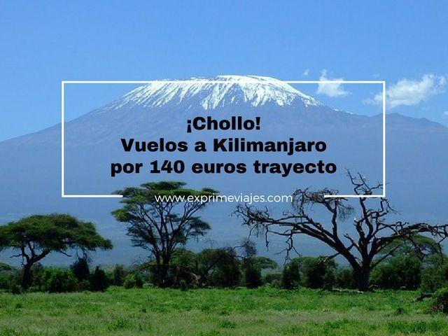 kilimanjaro vuelos 140 euros trayecto