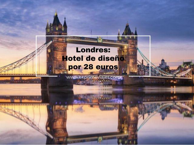 londres hotel diseño 28 euros