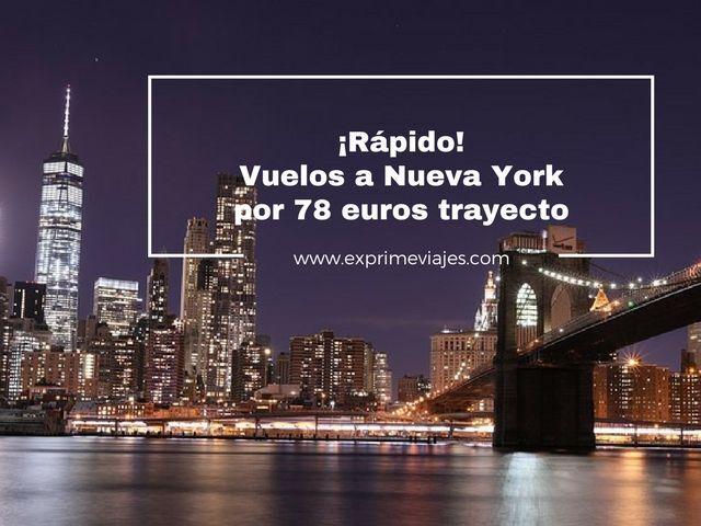 nueva york vuelos 78 euros trayecto