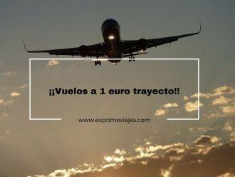 vuelos 1 euro trayecto
