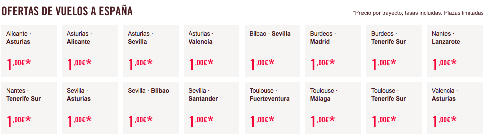 vuelos a 1 euro black friday volotea