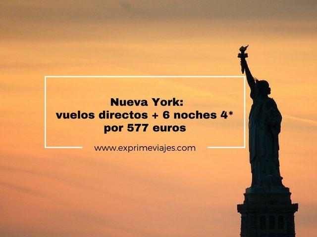 nueva york vuelos 6 noches 4* 577 euros