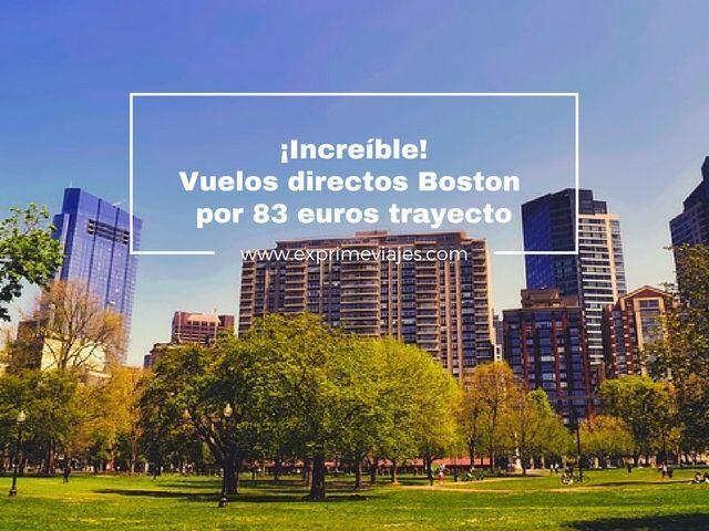 vuelos directos barceloba boston 83 euros trayecto