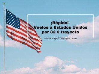 estados unidos vuelos 82 euros trayecto