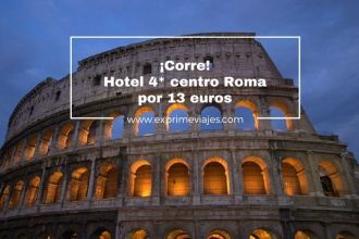 roma tarifa error hotel 4* 13 euros