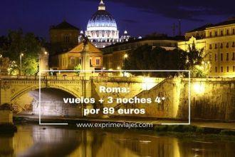 roma vuelos 3 noches 4* 89 euros