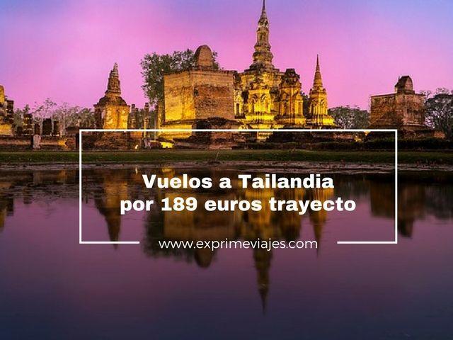 tailandia vuelos 189 euros taryecto